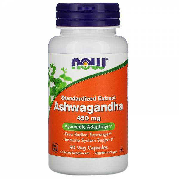 Now Foods, Ashwagandha, standardisiertes Extrakt, 450 mg
